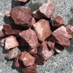 crushed chipping red